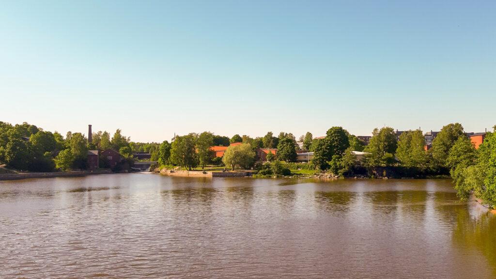 Vanhakaupunki - řeka Vantaa se vlévá do Baltského moře